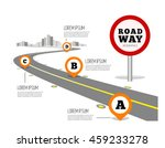 road way design infographics. | Shutterstock .eps vector #459233278