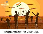 indian people celebrating happy ... | Shutterstock .eps vector #459234856