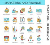 vector icons. marketing and... | Shutterstock .eps vector #459235438