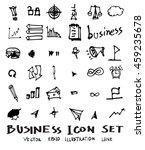 business doodles sketch vector... | Shutterstock .eps vector #459235678