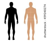 fashion man full length solid... | Shutterstock .eps vector #459240274