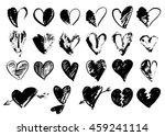 vector doodle hand drawn grunge ... | Shutterstock .eps vector #459241114