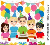 cute children having fun on... | Shutterstock .eps vector #459242179