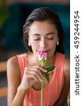 portrait of smiling woman... | Shutterstock . vector #459244954