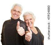 two happy senior citizens... | Shutterstock . vector #45924880