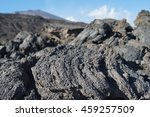 lava rocks on mt. etna | Shutterstock . vector #459257509