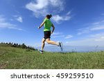 healthy young woman trail... | Shutterstock . vector #459259510