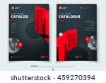 red catalog cover design.... | Shutterstock .eps vector #459270394