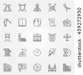 history icons set   vector... | Shutterstock .eps vector #459272950