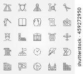 history icons set   vector... | Shutterstock .eps vector #459272950