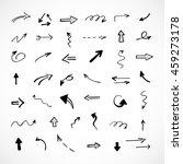 hand drawn arrows  vector set | Shutterstock .eps vector #459273178