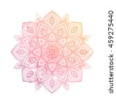 vector beautiful mandala.... | Shutterstock .eps vector #459275440