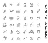 drawing tools icon set  thin...   Shutterstock .eps vector #459287998