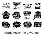 vector set of vintage back to... | Shutterstock .eps vector #459299680