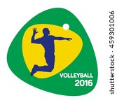 volleyball icon  vector... | Shutterstock .eps vector #459301006