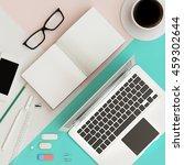 minimal work space concept  ... | Shutterstock . vector #459302644