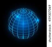 abstract globe vector... | Shutterstock .eps vector #459307069