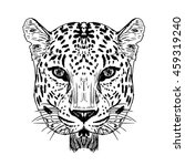 leopard face live in natural... | Shutterstock .eps vector #459319240