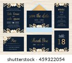 set of wedding suite template... | Shutterstock .eps vector #459322054