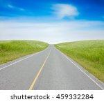 green grass hill with  blue sky ... | Shutterstock . vector #459332284
