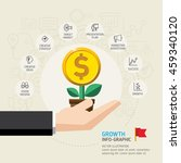 business growth conceptual... | Shutterstock .eps vector #459340120