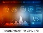 2d illusration business graph | Shutterstock . vector #459347770
