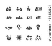 meeting icons vector | Shutterstock .eps vector #459353824