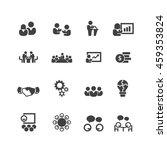 meeting icons vector   Shutterstock .eps vector #459353824