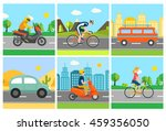different transport vehicle set ... | Shutterstock . vector #459356050
