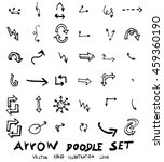 vector hand drawn arrows set | Shutterstock .eps vector #459360190