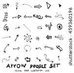 vector hand drawn arrows set | Shutterstock .eps vector #459360196