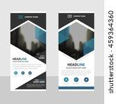 blue hexagon business roll up... | Shutterstock .eps vector #459364360
