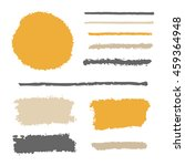 vector brushes set | Shutterstock .eps vector #459364948