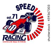speed racing vector t shirt... | Shutterstock .eps vector #459367303