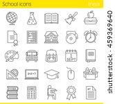 school linear icons set. class... | Shutterstock .eps vector #459369640