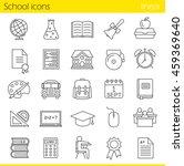 school linear icons set. class... | Shutterstock .eps vector #459369640
