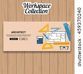architect workspace vector | Shutterstock .eps vector #459370240