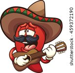 mexican chili pepper singing... | Shutterstock .eps vector #459372190