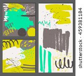 set of abstract universal cards.... | Shutterstock .eps vector #459381184