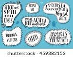 doodle brushes   set of seven... | Shutterstock .eps vector #459382153
