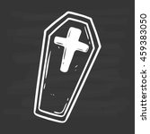 doodle coffin or chest on...   Shutterstock .eps vector #459383050