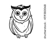 Cute Owl With Using Doodle Art...