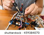 welding parts on drone | Shutterstock . vector #459384070