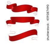 red ribbons set | Shutterstock .eps vector #459387490