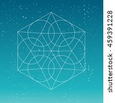 circular geometric shape.... | Shutterstock .eps vector #459391228