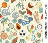 seamless sport rio 2016 pattern ... | Shutterstock .eps vector #459394948