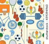 seamless sport rio 2016 pattern ... | Shutterstock .eps vector #459394960
