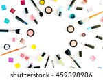 flat lay female cosmetics... | Shutterstock . vector #459398986