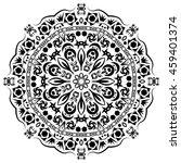 vector mandala for coloring.   Shutterstock .eps vector #459401374