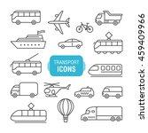 transportation icons set... | Shutterstock .eps vector #459409966